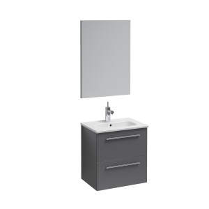 Street 500mm Wall-Hung Vanity Unit with Mirror - Anthracite