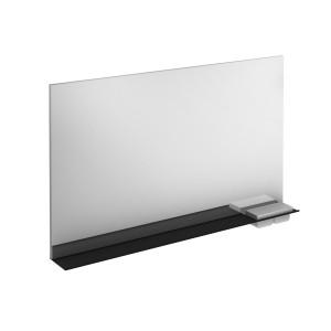 Structure 1200mm Illuminated Mirror with Black Shelf & Storage Cases
