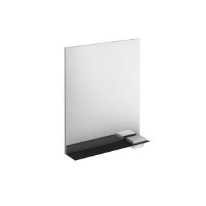 Structure 600mm Illuminated Mirror with Black Shelf & Storage Cases
