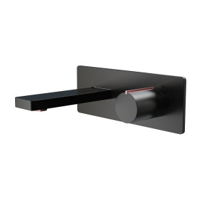 Velar Black Wall-Mounted Basin Mixer