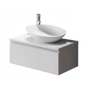Vida 600mm 1 Drawer Wall-Hung Vanity Unit - Gloss White
