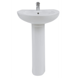Xclusive 550mm Full Pedestal Basin - 1 Tap Hole