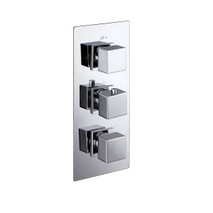 Cube Triple Concealed Thermostatic Shower Valve