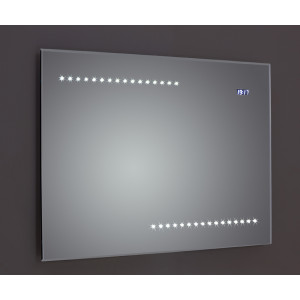 Quay Bevel-Edged LED Mirror with Clock, Sensor & Demister