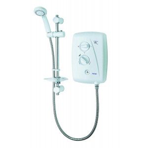 T80z 8.5kW Fast-Fit Electric Shower - White/Chrome