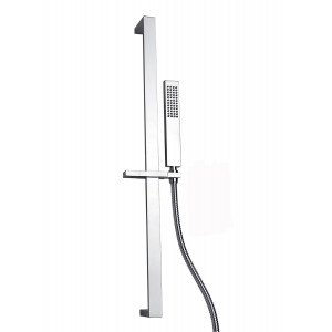 Square Slide Rail Shower Kit with Outle