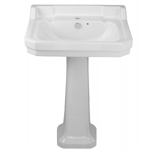 Holborn 560mm Full Pedestal Basin - 1 Tap Hole
