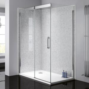 Prestige² 8mm Side Panel - Silver/Clear Glass