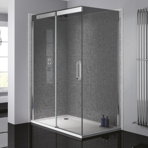 Prestige² 8mm Side Panel - Silver/Smoked Glass